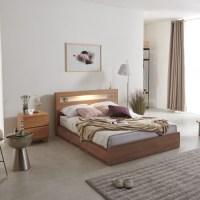크렌시아 오로라2 LED 멀티수납 침대 +본넬매트리스 방문설치, 아카시아 (TOP 2035043478)