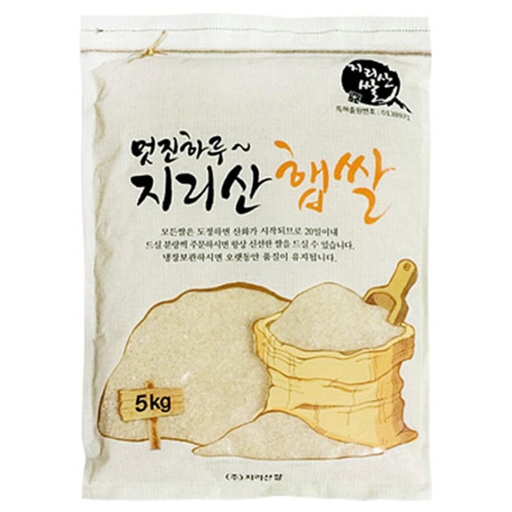 물맑은지리산쌀 멋진하루 지리산 햅쌀 찹쌀, 5kg, 1개