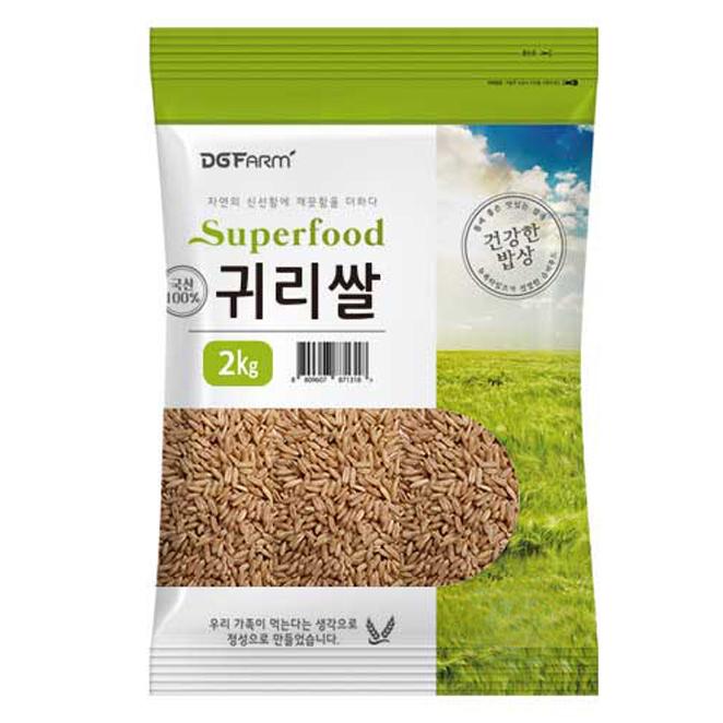 대구농산 2020년 건강한밥상 국산 귀리쌀, 2kg, 1개