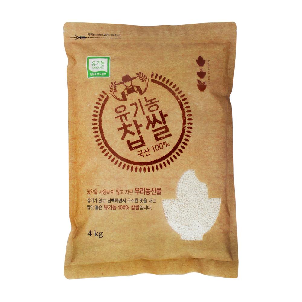 청그루 유기농 찹쌀, 4kg, 1개