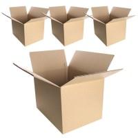 코멧 택배 이사용 종이박스 AB골, 550 x 400 x 400mm, 4개 (TOP 1491119378)