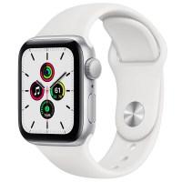 Apple 애플워치 SE, GPS, 실버 알루미늄 케이스, 화이트 스포츠 밴드 (POP 2128457892)
