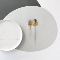 케라미카 실리콘 조약돌 식탁매트, 그레이, 430 x 330 mm (TOP 233535146)