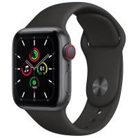 Apple 애플워치 SE, GPS+Cellular, 스페이스 그레이 알루미늄 케이스, 블랙 스포츠 밴드 (POP 2128457892)