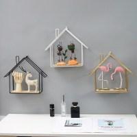 노르딕 미니 홈 거실 무타공 엔틱한디자인 슬드거치대 칸막이보드 벽장식장식품, 화이트 원목 미니 홈 (TOP 5655447558)