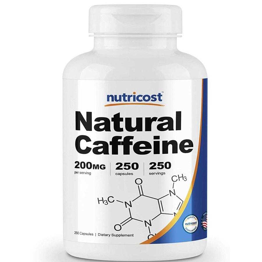 뉴트리코스트 네츄럴 카페인 200mg 250캡슐 1병 1서빙 200mg 250회분 Natural Caffeine [200 MG] [250 CAPS], 1개