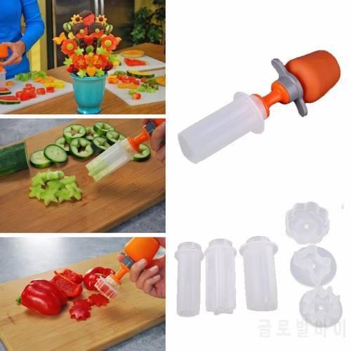 플라스틱 야채 과일 모양 커터 슬라이서 채식 음식 스낵 제조기 케이크 장식