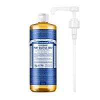 닥터브로너스 퓨어 캐스틸 솝 페퍼민트 950ml + 전용펌프, 단품 (POP 1156222492)