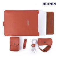 헤이맨 삼성 갤럭시북 Pro 360 전용 5종세트 손잡이 노트북 파우치 가방, 브라운 (TOP 5431089077)