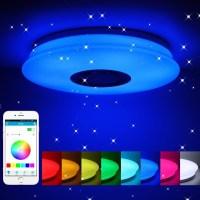스마트 Led 천장 조명 RGB Dimmable 36W 60W APP 제어 블루투스 음악 현대 Led 천장 램프 거실 침실 220v, 36CM 36W, 협력사 (TOP 5540709246)