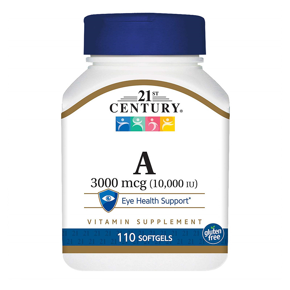 21st Century Vitamin A 21세기 센트리 비타민A 영양제 10000 IU 110정