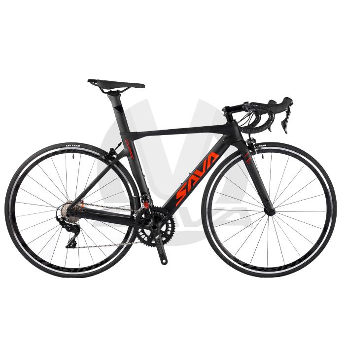사바(SAVA) SAVA 카본 로드 자전거 콜로라도 5S R7000(시마노 105), Matte Black+Red_470(S)