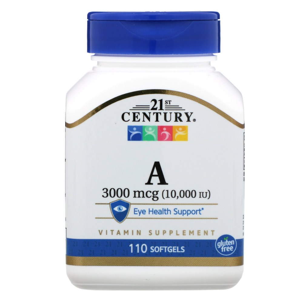 21st Century 비타민 A 3000mcg 10000IU Vitamin A 3000mcg 110 Softgels 110캡슐, 단일상품, 단일상품