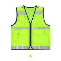 야광 반사조끼 고휘도 형광반사조끼 야간안전운전옷 정차중 안전조끼, 1개 (TOP 1377624355)