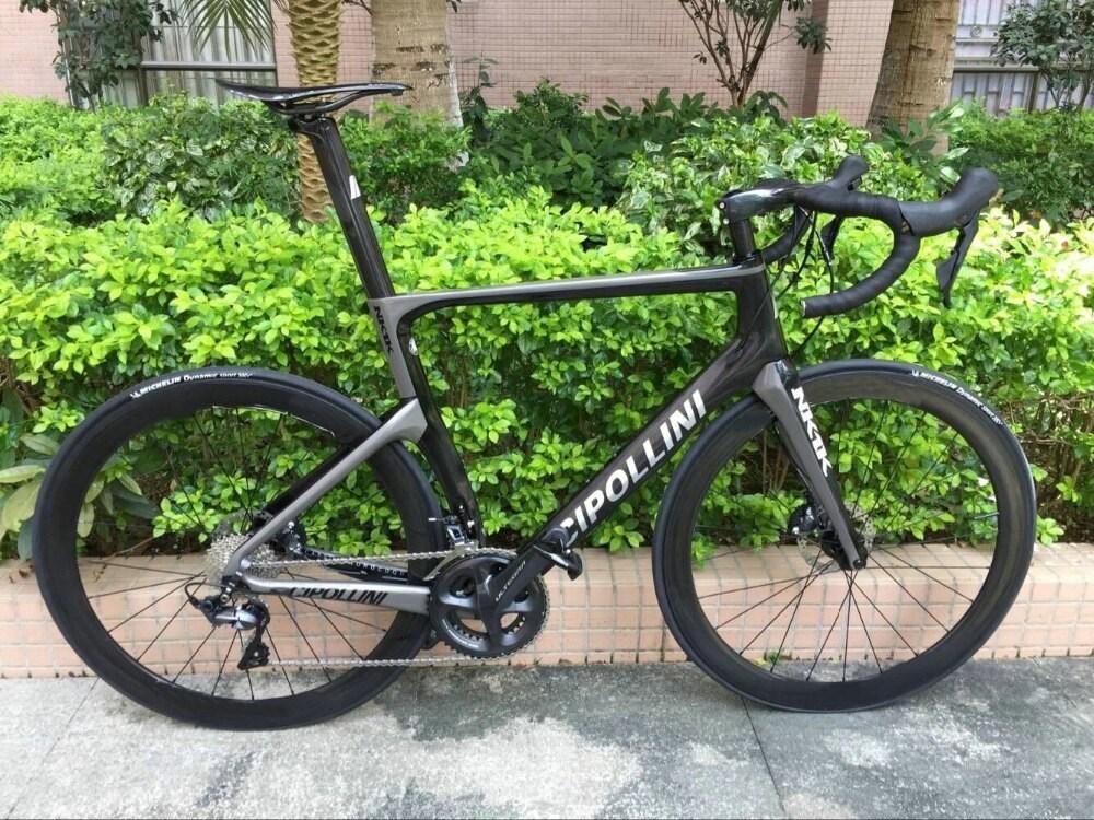 디스크 브레이크 Cipollini NK1K 카본로드 완성 된 자전거 원래 105 R7020 또는 ULTEGRA r8020 그룹 세트 스루 액슬 브레이크, S5 complete bike_M