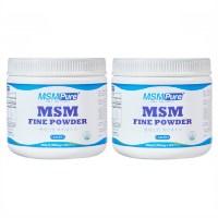 MSM 파인파우더 관절 영양제 식이유황 엠에스엠 분말 뼈건강 N아세틸글루코사민 콘드로이친 2통 (TOP 1972821453)