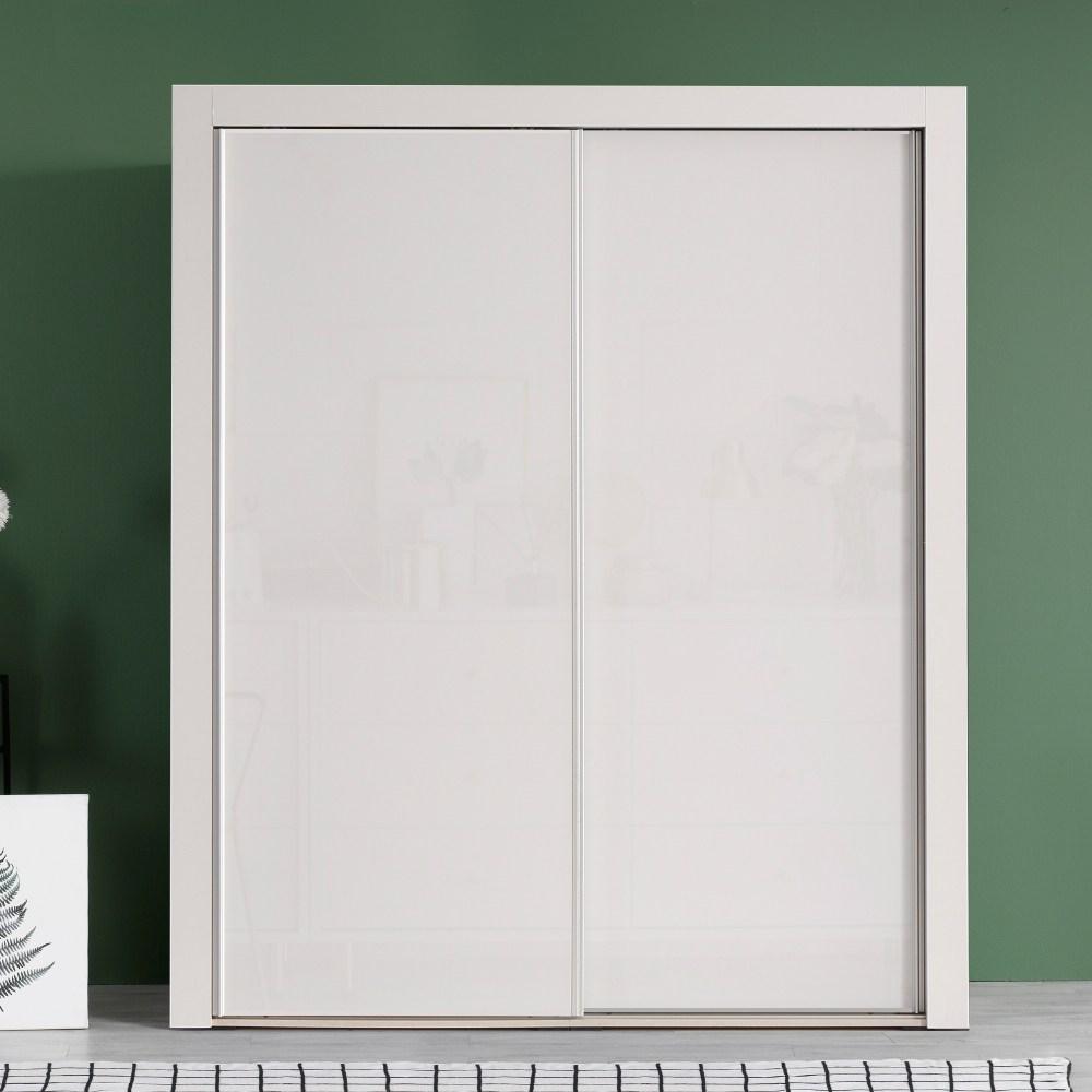 대도갤러리 키높이 클래시 하이그로시 6자 슬라이딩옷장 (너비1770), 화이트