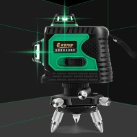 FKP 3D 360도 레이저 레드라이트 8라인 12라인 레벨기 수평측정기 3종, 01_3D레이저라벨기_그린_12라인(삼각대포함) (TOP 1215109742)