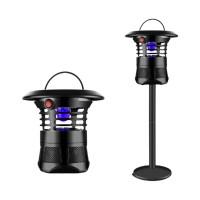 모기퇴치기 LED램프 캠핑용 무소음 날파리 초파리 트랩 흡입기 포충기 가정용, 대용량모기트랩 블랙 (TOP 5524926073)