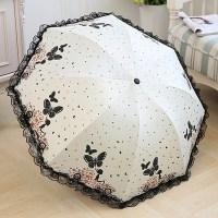 레이스양산 자외선차단 여성양산 꽃무늬 양산 엄마 선물 여자 귀여운 나비 공주 레이스 (TOP 5546892431)