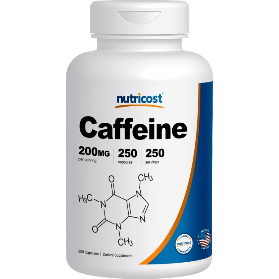 뉴트리코스트 카페인 200mg 1서빙 200mg Caffeine Capsules [200 MG], 250캡슐