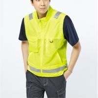 형광색 눈에띄어 안전 이쁜 반사 조끼 작업복, 1개 (TOP 5610637605)
