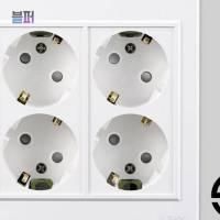 스마트클라우드 콘센트덮개 가정용 스마트 디자인 둥근형 4구 매입콘센트 일반형 콘센트가리개 스위치커버, 1개 (TOP 4529353161)