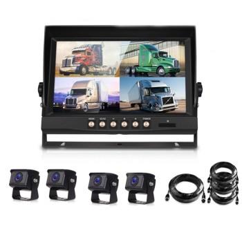 화물차블랙박스 - AHD 화물차 버스 4채널블랙박스 후방카메라, 9인치 + 카메라 사각4개