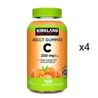 커클랜드 비타민 C 250mg 180정x4병 어덜트구미, 4병 (TOP 5307426455)