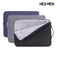헤이맨 삼성 갤럭시 북 Pro 360 13인치 15인치 극세사 포켓 수납 노트북 파우치 가방, 블랙 (TOP 5431062798)
