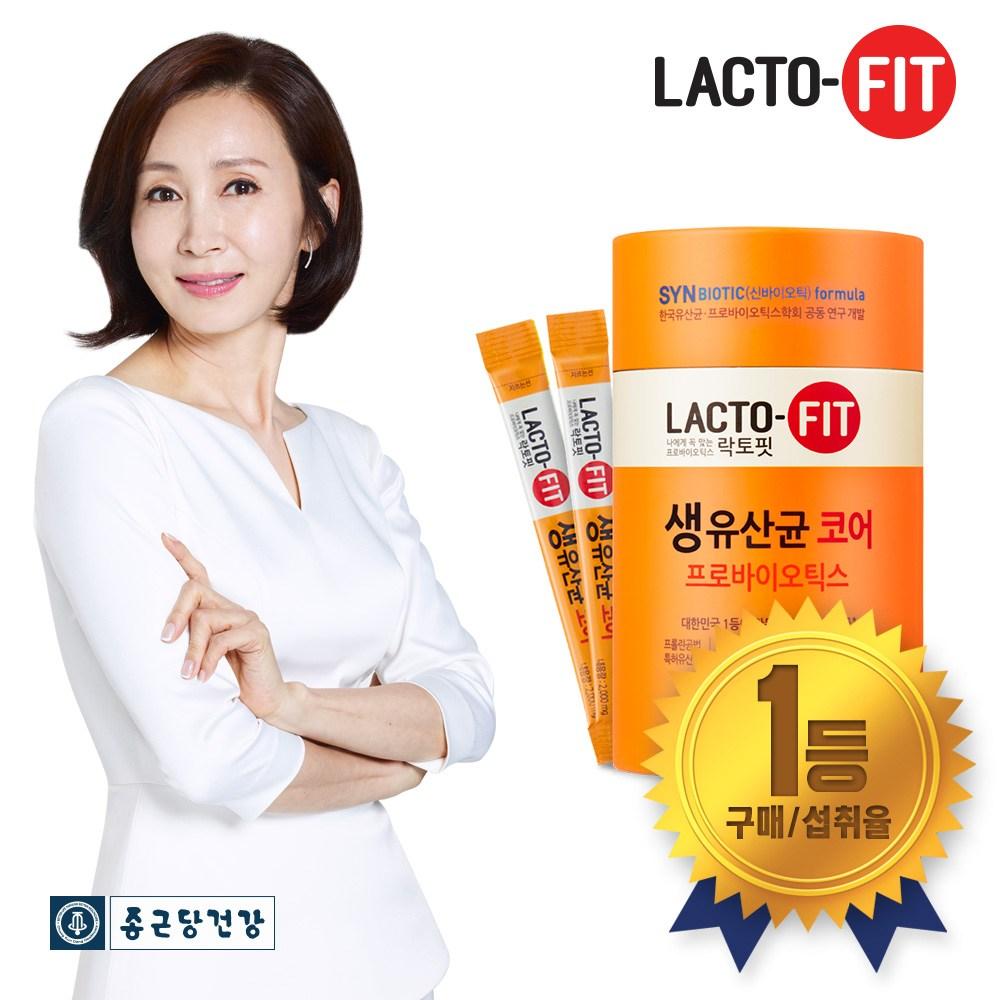 종근당건강 락토핏 프롤린유산균 코어 60포 (프롤린공법), 1통