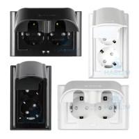 욕실 콘센트 방우 2구 블랙 화이트 방수 커버 (국산), 선택01-가로 (TOP 4631314973)