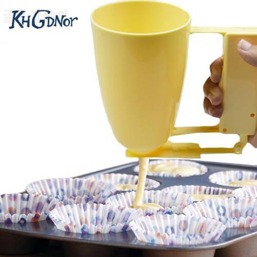 핸들 케이크 만들기 도우미 컵 과자 배터 디스펜서 미트볼 곰팡이 제조기 Lo