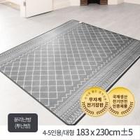 한일의료기 무자계 전기장판 화이트그레이, 4~5인용_분리난방(183 X 230cm) (TOP 120467317)