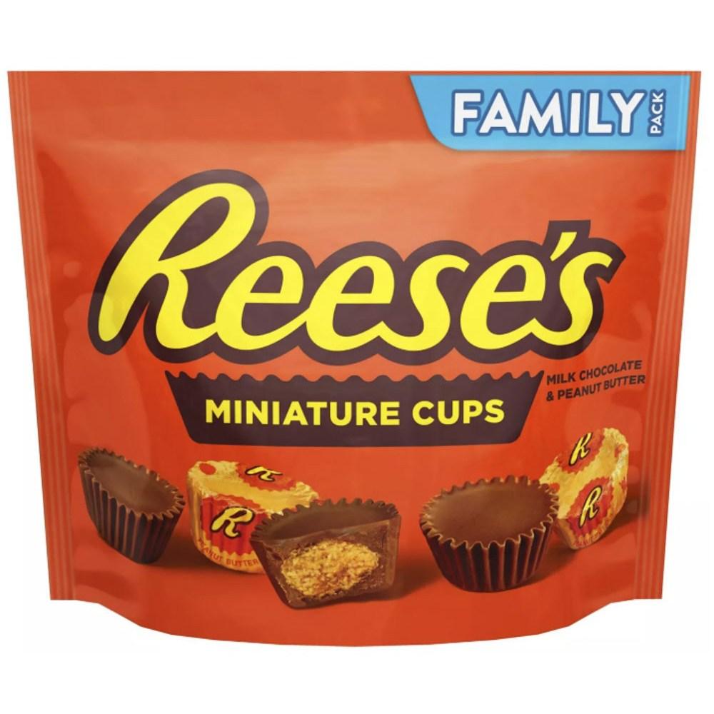 리세스 미니어처 컵 밀크 초콜릿 & 피넛 버터, 1개, 499g