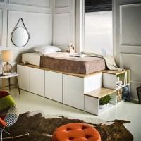 아리아퍼니쳐 Stanford 수납형 슈퍼싱글 침대 평상형 계단식 침대(계단포함), 본품 (TOP 5227734096)