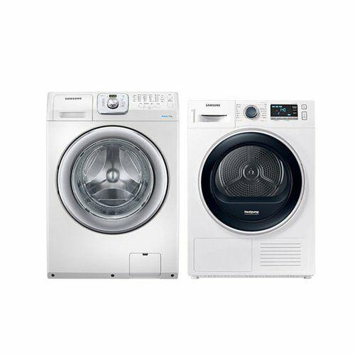 [삼성] 드럼 세탁기 14Kg + 건조기 9Kg 세트 WF14F5K3AVW1+DV90R6200QW