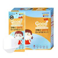 굿매너 KF94 마스크 (소형/화이트) 50매 x 1박스 (TOP 4743750145)