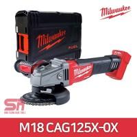 밀워키 18V FUEL 5인치 충전 앵글 그라인더 M18 CAG125X-0X 베어툴 (TOP 306162061)