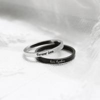 LIKEY [커플링 우정링] 써지컬스틸 2mm 이니셜반지 (글자 이니셜각인가능) (POP 1650032950)