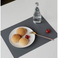 이지솜 프리미엄 사각 실리콘 식탁 테이블매트 300mm x 400mm, 다크그레이 (TOP 4806975342)