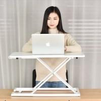 높낮이 높이 조절 스탠딩 책상 테이블, 높낮이 조절 스탠딩 테이블 중형_화이트 1EA (POP 5417032858)