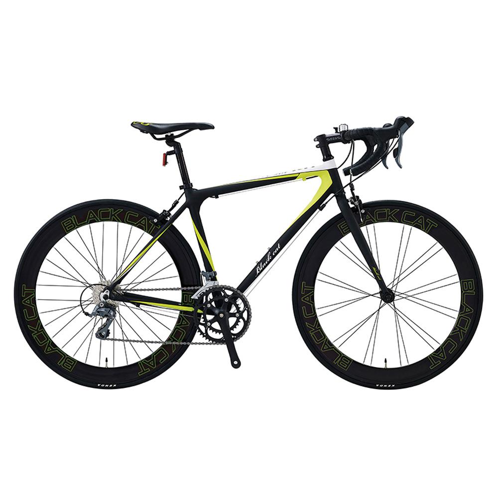 스마트 무료조립 델솔RH 블랙캣700C 60mm하이림 시마노 클라리스 16단 스무드웰딩 로드 자전거, 델솔RH(블랙캣)700C_라임그린(470)