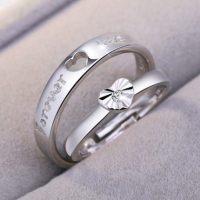 chinapnp0.5 커플아이템 s925순은 반지 남녀 커플 장식품 심플 학생 커플링 다이아몬드반지 입구 결혼 한쌍 (POP 310745222)