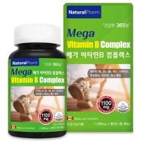 네추럴팜 메가 비타민b 컴플렉스 고함량비타민b 8가지 비타민b군 건강기능식품, 90정, 1100mg (TOP 4789380277)