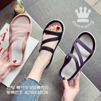 M 썬왕 여성용 젤리 슬리퍼 워터샌들 물놀이 신발 말랑한 크로스 젤리슈즈 여자 여름 샌들 슬리퍼 (TOP 5918140309)