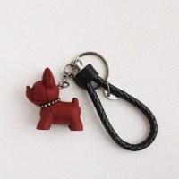 바네코쥬얼리 키링 강아지 스트랩  에어팟 자동차용품 K-0384, 버건디 (TOP 5797213701)