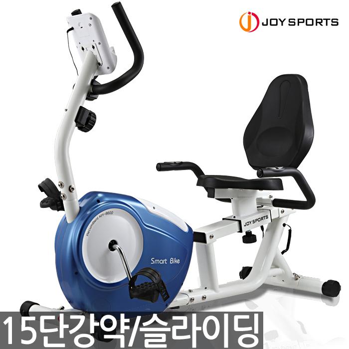 조이스포츠(주) 15단강약 좌식헬스자전거, 네이비, 자가설치