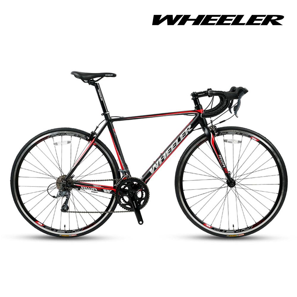 [휠러] RWA50 클라리스 16단 입문 로드 자전거, 블랙/레드