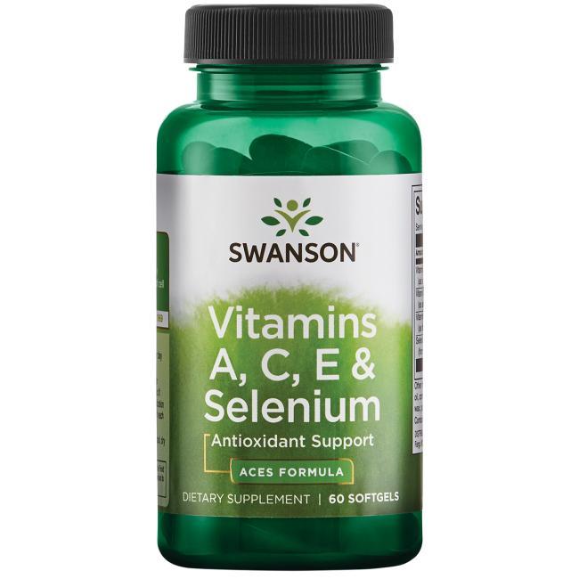 스완슨 비타민 A C E & 셀레늄 소프트젤, 60개입, 1개